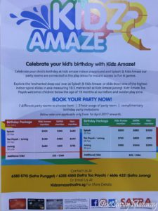 KIDZ AMAZE SAFRA PUNGGOL PARTY PACKAGES
