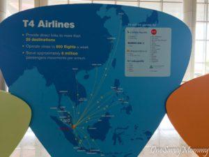 Singapore Changi Airport Terminal 4 Airlines