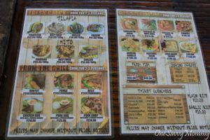 Eden Garden Park Fishing Village Menu