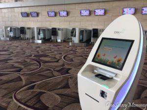 Singapore Changi Airport Terminal 4 Check In Kiosk