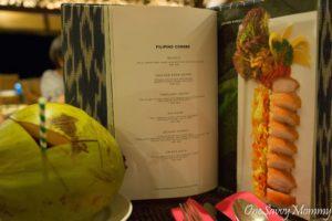 Pearl Farm Beach Resort Restaurant Menu