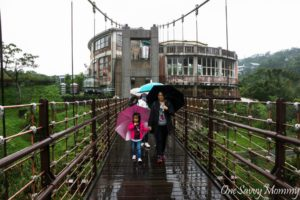 Bridge to Shifen Waterfall