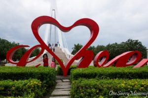 Taipei Tamsui Fisherman's Wharf Love Sign